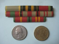 = 8 Soviet Ribbon Bar Wwii Medals 1950and039s-1960and039s. =