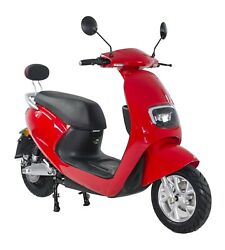 Scooter Andeacutelectrique -lycke Classic50-rouge - 2100 Watts - Batterie 60v20ah - 50cc