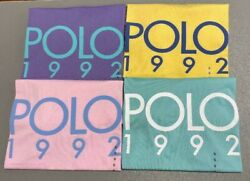 Polo Mens 1992 Classic Fit T Tee Shirt Crew Neck Brand New Rare