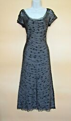 Phase Eight Long Brown Lace Fit And Flare Dress Size 10