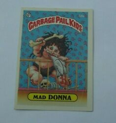 1985 Garbage Pail Kids Mad Donna 50a And Nutty Nicole 50b