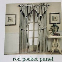 Waverly Home Classic Curtains Rod Pocket Panels Moire Champagne Tan Beige Mew