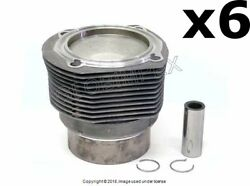 Porsche 911 1972-1973 Piston And Cylinder 6 Mahle Oem + 1 Year Warranty