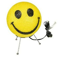Yellow Smiley Face Glitter Sparkle Lamp Decorating Childs Bedroom Gift