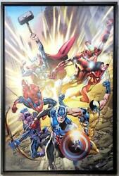 Marvel Fine Art Fearles Giclee On Canvas W/stan Lee Signature Nm+