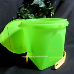 Tupperware NEW Impressions Jumbo Canister Bucket 21 Cup 5 L Green with handle $25.00