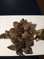 Vintage Costume Jewelry Brooch 5 Andtimes 4 In. There Is A Name On It Canand039t Make It Out