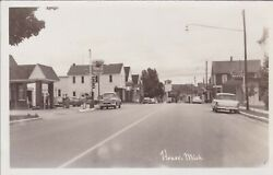 Nw Honor Mi Rppc 1950s Pumps Mobilgas Brand Gas Station Now The Honor Bank