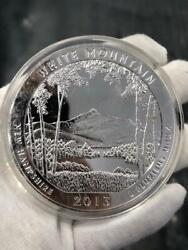 5oz Pure Silver .999 White Mountain New Hampshire 2013 Quarter Dollar Large Coin