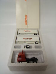 Winross Red Arrow Freight Lines Tractor W/ Doubles Mib 1/64 Diecast