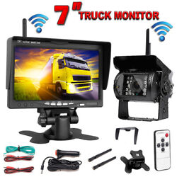 7 Hd Vehicle Rear View Monitor + Back Up Camera Night Vision Parking System Rv