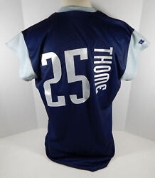1999 Cleveland Indians Jim Thome 25 Authentic Navy Jersey Tatc 48 Russell 213