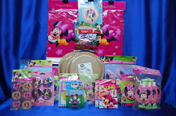 Minnie Mouse Party Set 25 Napkins Invites Tablecloth Plates Loot Bags Favors