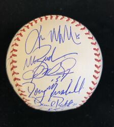 2004 Boston Red Sox Team Signed Official Baseball W/ All Key Players Champions