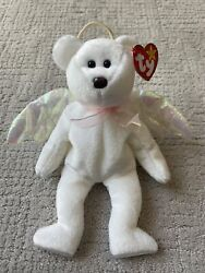 Ty Beanie Babies Halo The Angle Brown Nose. Iridescent Wings. Tag Errors