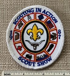1987 Longhorn Council Boy Scout Scouting In Action Patch Bsa Badge Camp Texas