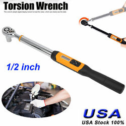 1/2in Drive Adjustable Torque Wrench 10-200nm Digital Display Spanner Hand Tool