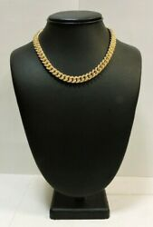 Ma3 14k Yellow Gold Cz Encrusted Curb Chain @ 51.5 Grams 16 7.4mm Width