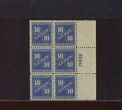 Ps7 Postal Savings Mint Plate Block Of 6 Stamps Nh Stock Ps7 A1