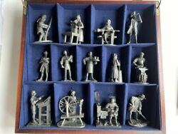 1974 Fm ''the People Of Colonial America'' Pewter Miniatures Collection,orig.box