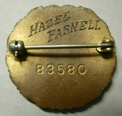 Ww2 Red Cross Named And Numbered Nurse Enameled Pin Hazel Parnell - Arc - Pb