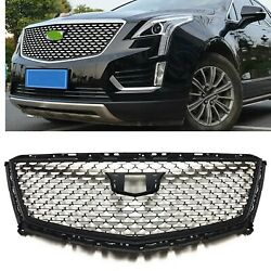 For Cadillac Xt5 2016 17 18 19 20 Silver Diamond Front Upper Grille Grill Cover