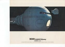 2001a Space Odyssey Pod Outside Spaceship Vintage Color Card