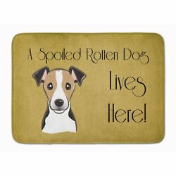 Caroline's Treasures Bb1509rug Jack Russell Terrier Spoiled Dog Lives Here Ma...