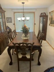 Paul Schtz Dining Room With China Hutch