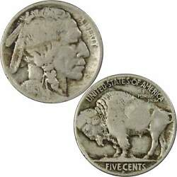 1913 D Type 2 Indian Head Buffalo Nickel 5 Cent Piece F Fine 5c Us Coin