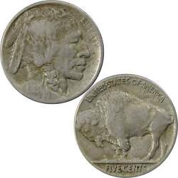 1913 D Type 2 Indian Head Buffalo Nickel 5 Cent Piece Vf Very Fine 5c Us Coin