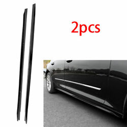 Fit For Cadillac Ct5 2019-2021 Abs Black Side Skirt Bodykit Spoiler Lip Trim 2pc