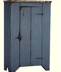 Jelly Cupboard Primitive Painted Country Farmhouse Furniture Rustic Cabinet Pine