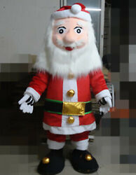 Santa Claus Mascot Costume Cosplay Party Dress Clothing Carnival Christmas Adult