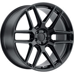 4 - 17x8 Black Wheel Mandrus Otto 5x112 22
