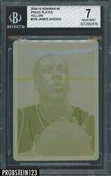 2009 Bowman 104 James Harden Rc Rookie Yellow Plate 1/1 1 Of 1 Bgs 7