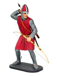 Medieval Crusader Knight With Bow And Arrow Life Size Statue