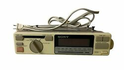 Vintage Sony Icf-c550w Under Cabinet Radio Am Fm Kitchen Clock Tested Working