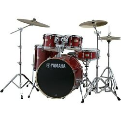 Yamaha Stage Custom Birch 5-piece Shell Pack W/ 20 Inch Bass Drum Cranberry Red