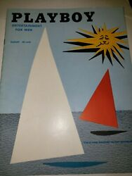 August 1954 Playboy Magazine--collector Quality