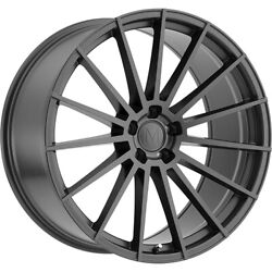 4 Staggered 22x9 / 22x10.5 Mandrus Stirling Gray 5x112 +34/+38 Wheels Rims