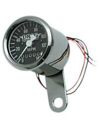 Drag Specialties 140mph 1-7/8andrdquo Mini Speedometer Black 224060 Ratio