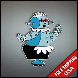 Jetsons Rosie Robot Vaccum Maid Decal Vinyl Wall Sticker 4.5quot; Roomba