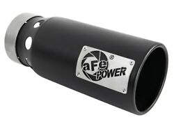 Afe Saturn 4s 4in Ss Intercooled Exhaust Tip - Black 4in In X 5in Out X 12in L