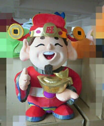 Christmas Deluxe God Of Wealth Mascot Costume Cosplay Clothing Carnival Adults @