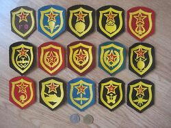 = 15 Soviet Russian Ussr Different Military Patches Made In 1970and039s-1991 =
