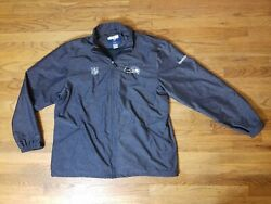 Todd Wash Seattle Seahawks Team Issued Game Jacket Coach Nfl Rare 2011 2xl Mens