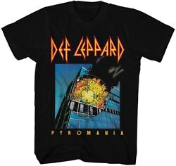 Def Leppard Pyromania 80s Heavy Hair Metal Band Rock and Roll Adult T Shirt Tee