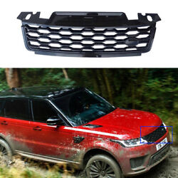 For Range Rover Sport 2018-19 Glossy Black Front Upper Bumper Mesh Grill Grille