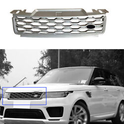 For Range Rover Sport 2018-2019 Silver Abs Front Upper Bumper Mesh Grill Grille